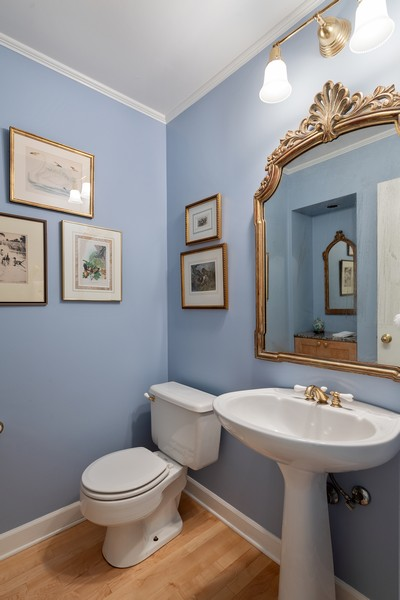 Real Estate Photography - 1255 W Webster, Chicago, IL, 60614 - Half Bath