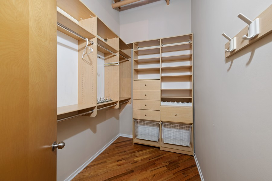 Real Estate Photography - 616 W Fulton, Chicago, IL, 60661 - Master Bedroom Closet