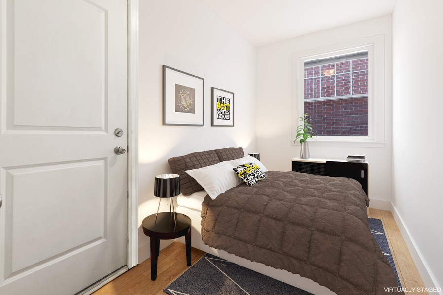 Real Estate Photography - 2711 Mildred Ave, #1B, Chicago, IL, 60614 - 2nd Bedroom