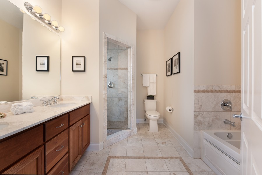 Real Estate Photography - 3721 N Elston Ave, Unit 4S, Chicago, IL, 60618 - Master Bathroom