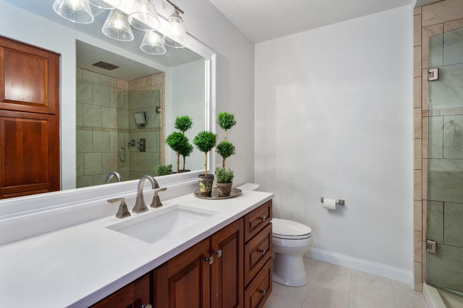 Real Estate Photography - 415 Westwood Drive, Barrington, IL, 60010 - Master Bathroom
