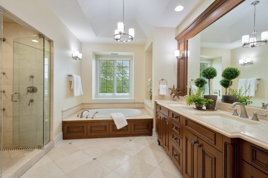 Real Estate Photography - 22106 N Greenmeadow Dr, Kildeer, IL, 60047 - Master Bathroom