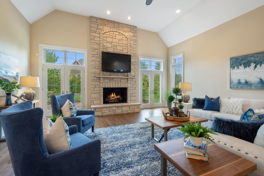 Real Estate Photography - 22106 N Greenmeadow Dr, Kildeer, IL, 60047 - Family Room