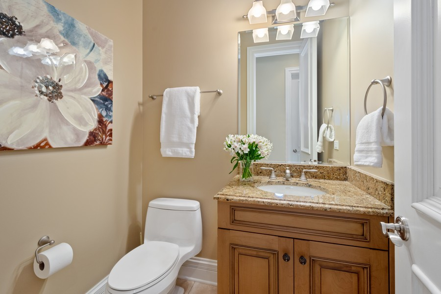 Real Estate Photography - 22106 N Greenmeadow Dr, Kildeer, IL, 60047 - Powder Room 1