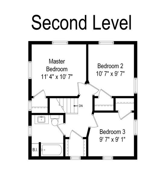 Real Estate Photography - 1903 Livingston, Evanston, IL, 60202 - Floor Plan
