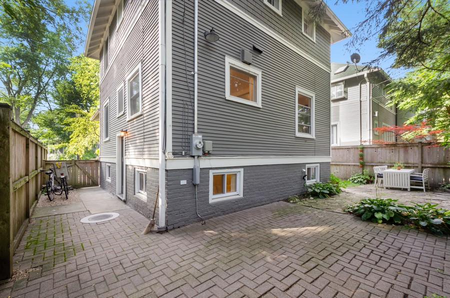 Real Estate Photography - 1903 Livingston, Evanston, IL, 60202 - Rear View