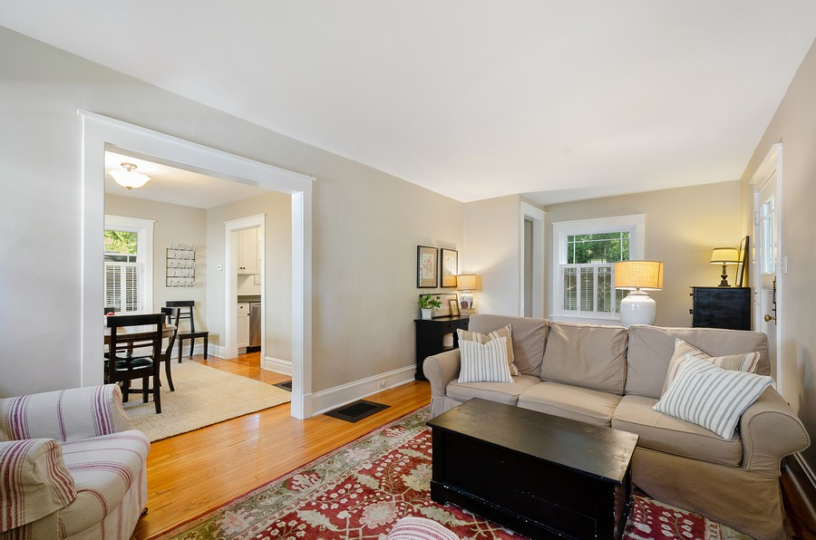 Real Estate Photography - 1903 Livingston, Evanston, IL, 60202 - Living Room / Dining Room