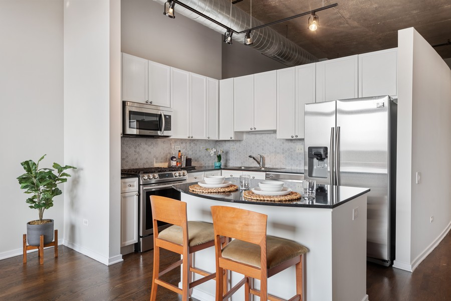 Real Estate Photography - 900 N Kingsbury St, Unit 820, Chicago, IL, 60610 - Kitchen