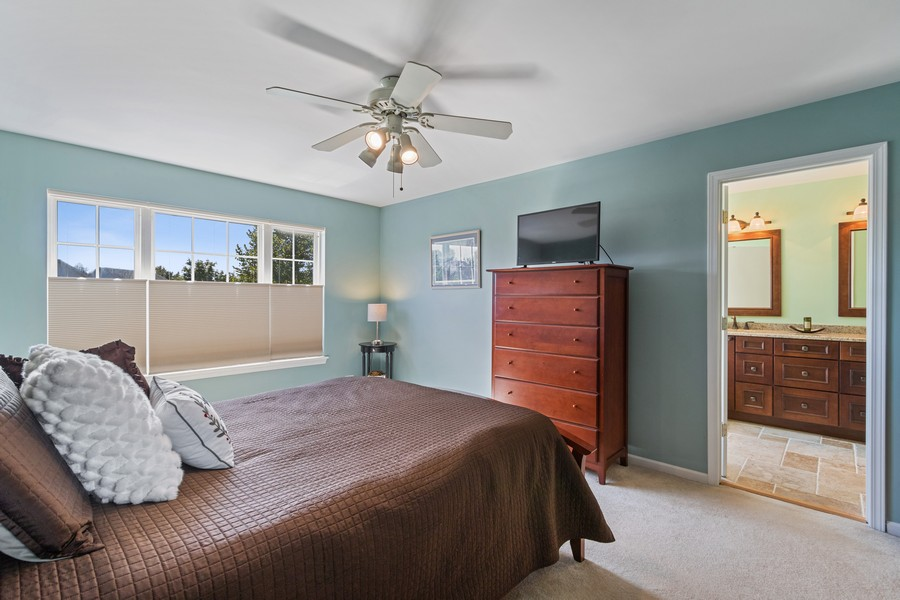 Real Estate Photography - 863 March St, Lake Zurich, IL, 60047 - Master Bedroom