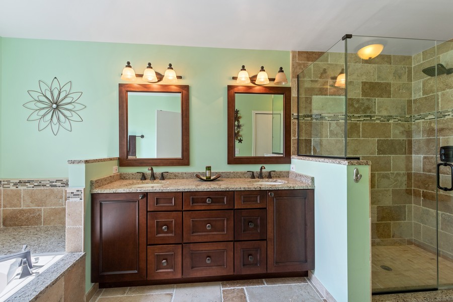 Real Estate Photography - 863 March St, Lake Zurich, IL, 60047 - Master Bathroom