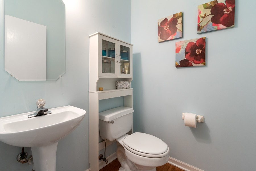Real Estate Photography - 863 March St, Lake Zurich, IL, 60047 - Powder Room