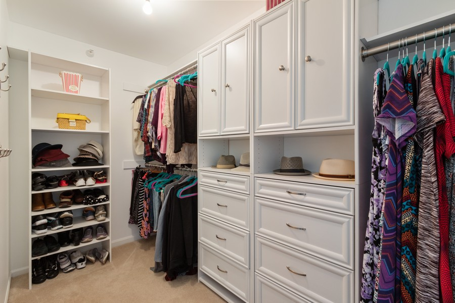 Real Estate Photography - 863 March St, Lake Zurich, IL, 60047 - Master Bedroom Closet
