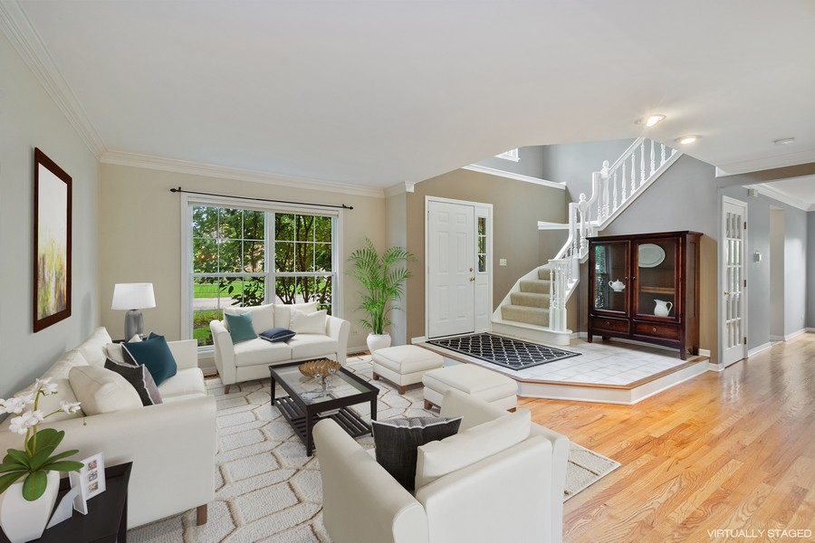 Real Estate Photography - 9162 Primrose Ln, Fox River Grove, IL, 60021 - Living Room