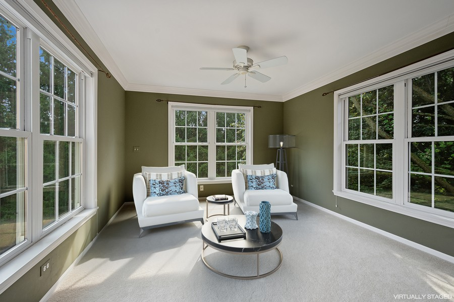 Real Estate Photography - 9162 Primrose Ln, Fox River Grove, IL, 60021 - Master Bedroom Sitting Area