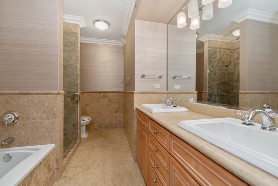 Real Estate Photography - 25 E Superior St, Unit 3605, Chicago, IL, 60611 - Master Bathroom