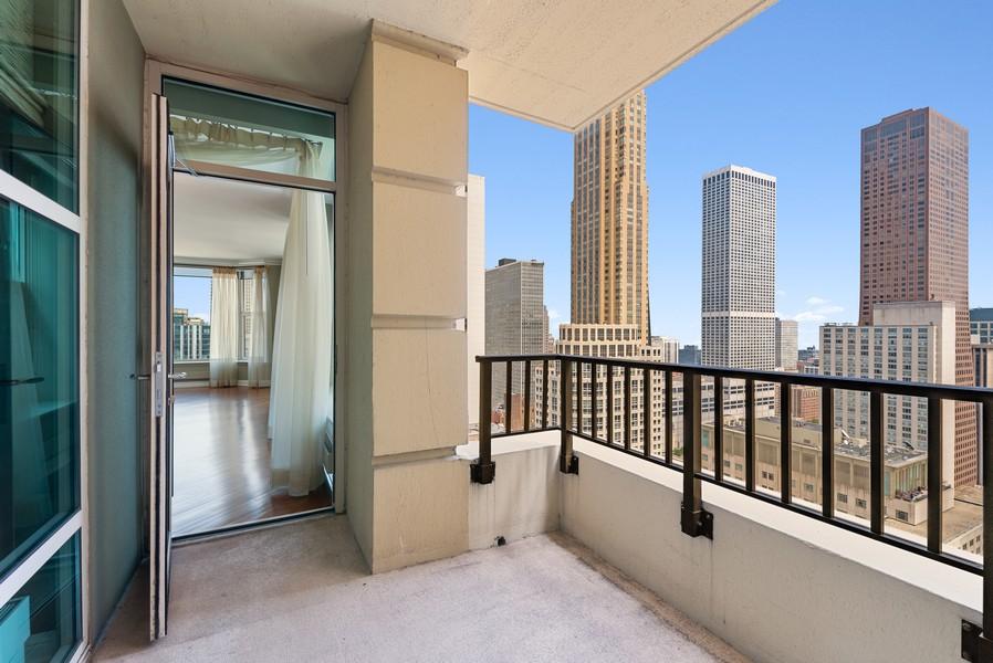 Real Estate Photography - 25 E Superior St, Unit 3605, Chicago, IL, 60611 - Balcony