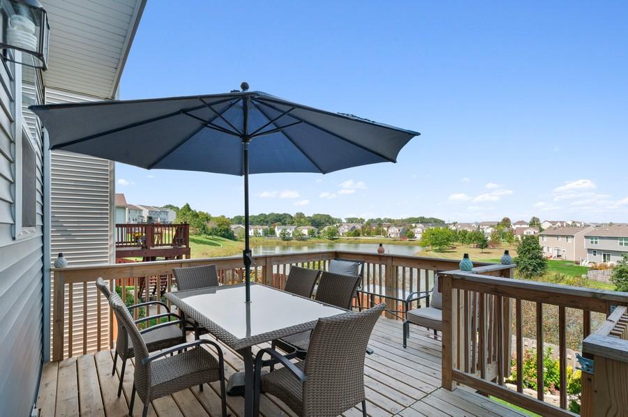 Real Estate Photography - 48 S Cornerstone, Volo, IL, 60020 - Deck