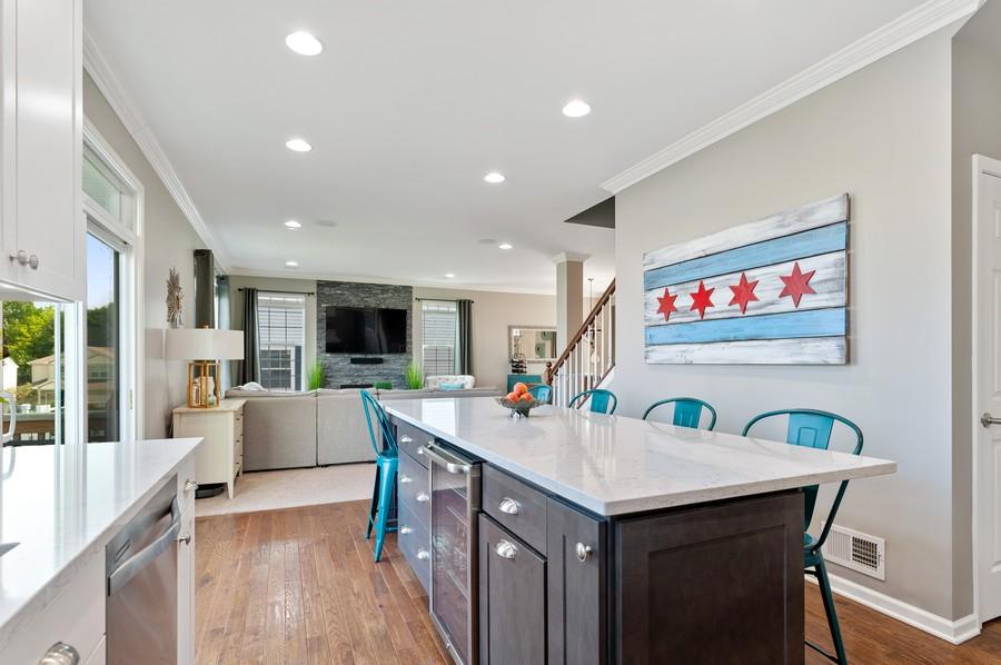 Real Estate Photography - 48 S Cornerstone, Volo, IL, 60020 - Kitchen / Living Room