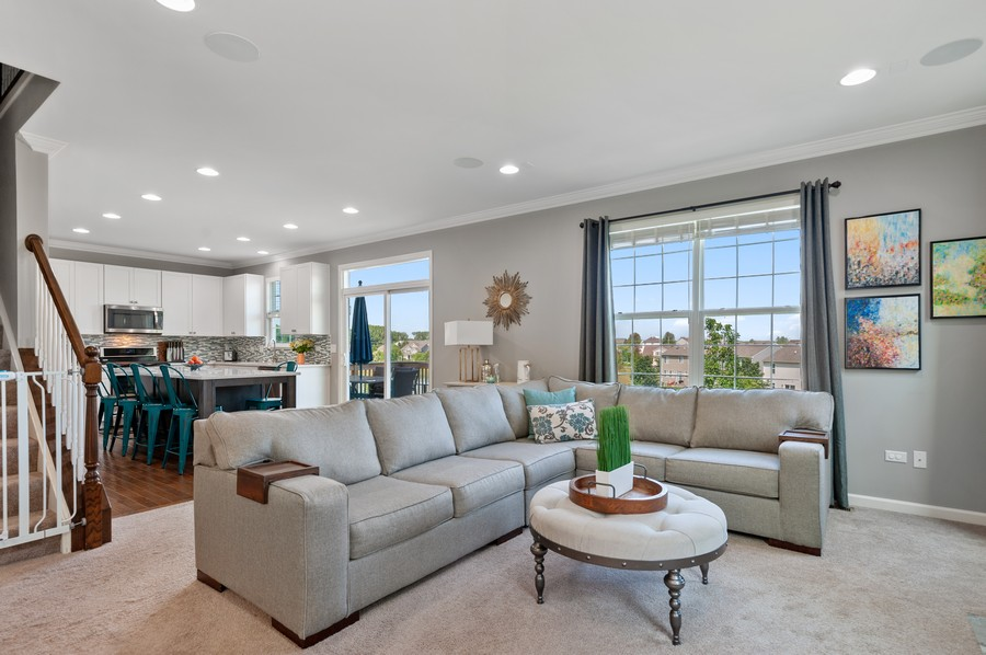 Real Estate Photography - 48 S Cornerstone, Volo, IL, 60020 - Kitchen/Living