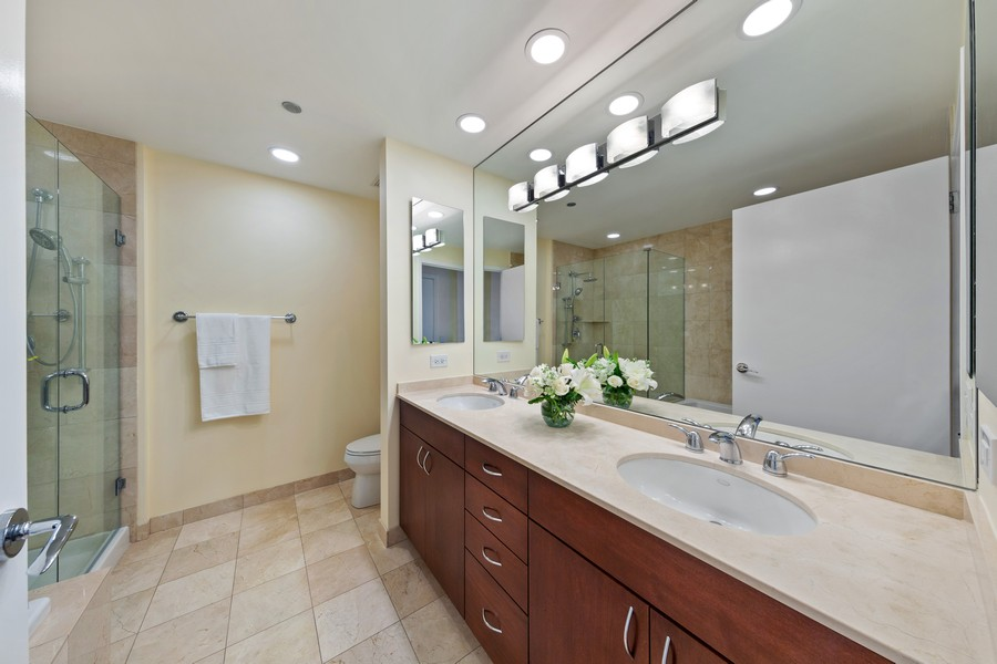 Real Estate Photography - 600 N Lake Shore Dr, Unit 3501, Chicago, IL, 60611 - Master Bathroom