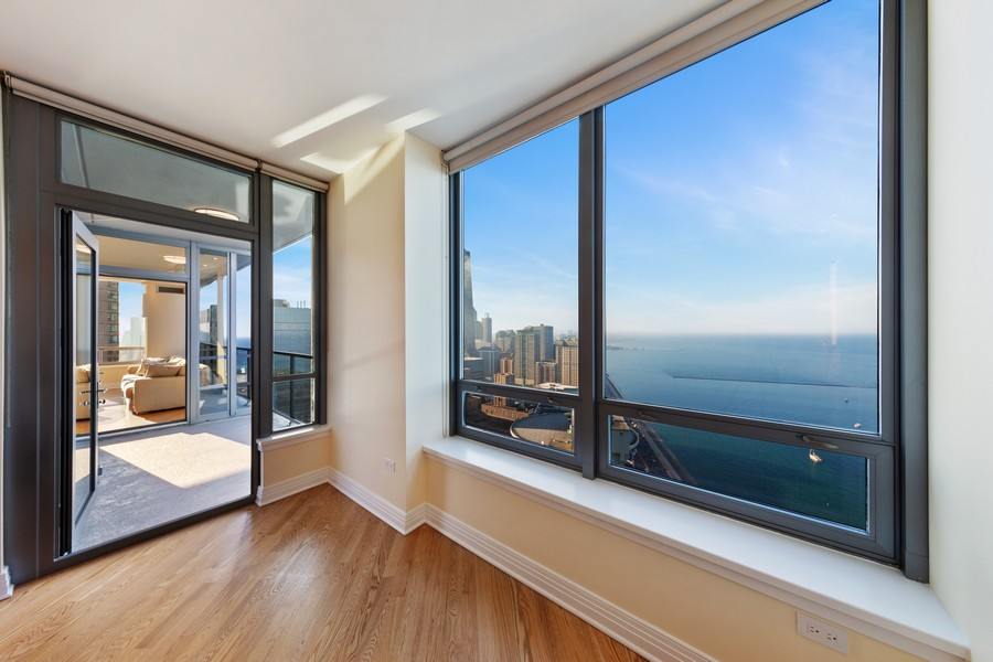 Real Estate Photography - 600 N Lake Shore Dr, Unit 3501, Chicago, IL, 60611 - Master Bedroom