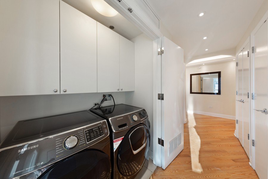 Real Estate Photography - 600 N Lake Shore Dr, Unit 3501, Chicago, IL, 60611 - Laundry Room