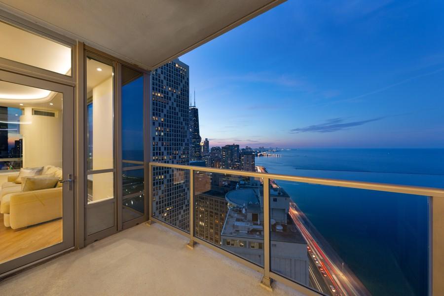 Real Estate Photography - 600 N Lake Shore Dr, Unit 3501, Chicago, IL, 60611 - Deck