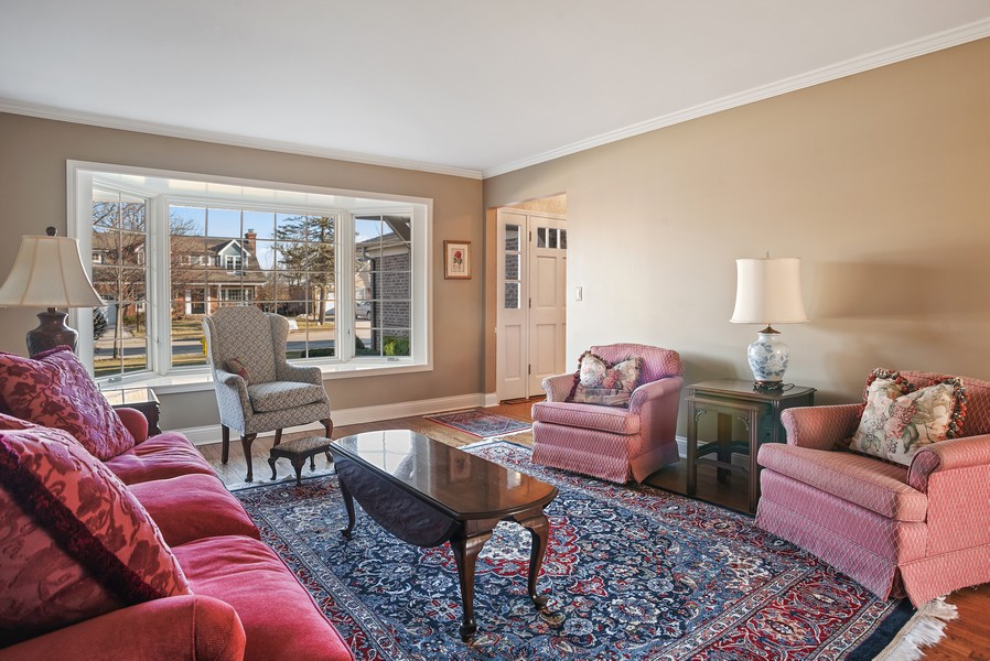 Real Estate Photography - 1204 Raleigh Road, Glenview, IL, 60025 - Living Room