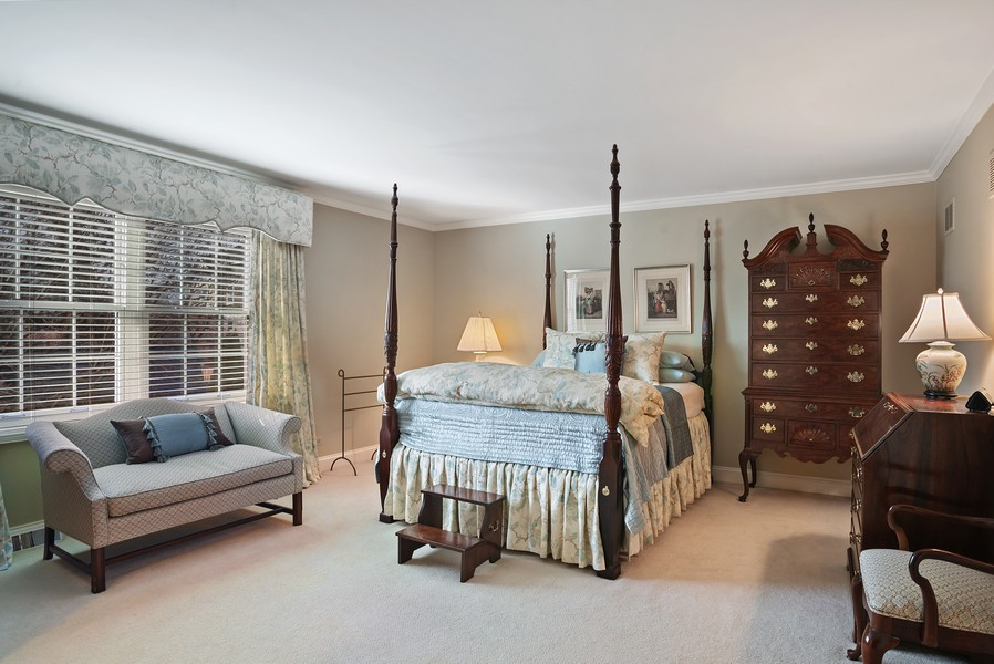 Real Estate Photography - 1204 Raleigh Road, Glenview, IL, 60025 - Master Bedroom