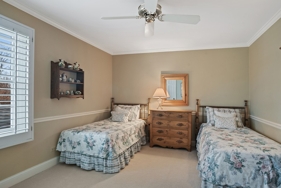 Real Estate Photography - 1204 Raleigh Road, Glenview, IL, 60025 - 2nd Bedroom