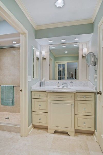 Real Estate Photography - 1204 Raleigh Road, Glenview, IL, 60025 - Master Bathroom