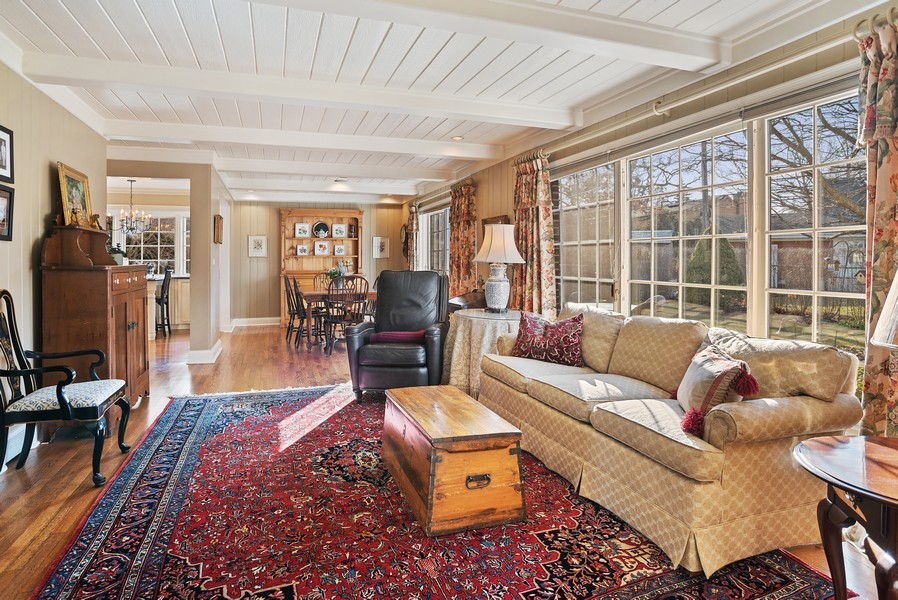 Real Estate Photography - 1204 Raleigh Road, Glenview, IL, 60025 - Family Room
