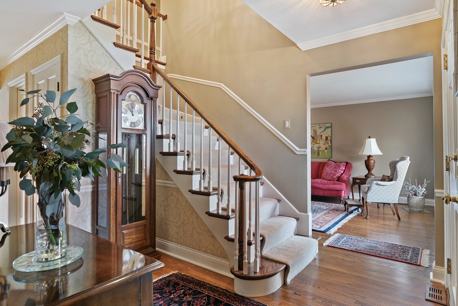 Real Estate Photography - 1204 Raleigh Road, Glenview, IL, 60025 - Foyer