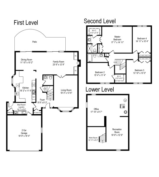 Real Estate Photography - 1204 Raleigh Road, Glenview, IL, 60025 - Floor Plan