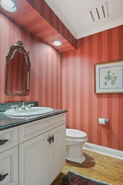 Real Estate Photography - 1204 Raleigh Road, Glenview, IL, 60025 - Half Bath