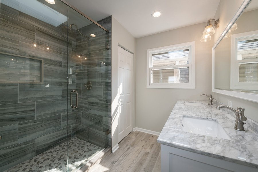 Real Estate Photography - 6320 W Warwick, Chicago, IL, 60634 - Master Bathroom
