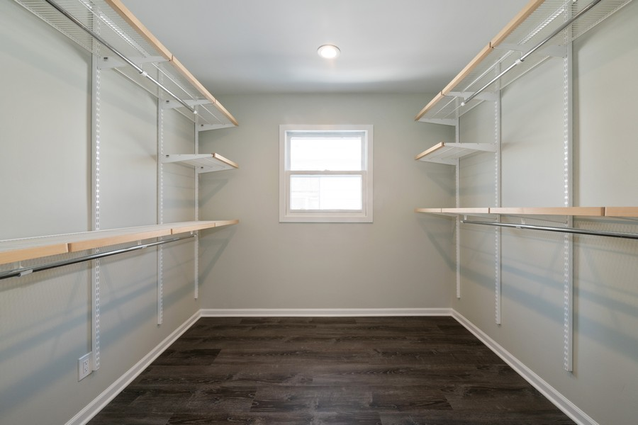 Real Estate Photography - 6320 W Warwick, Chicago, IL, 60634 - Master Bedroom Closet