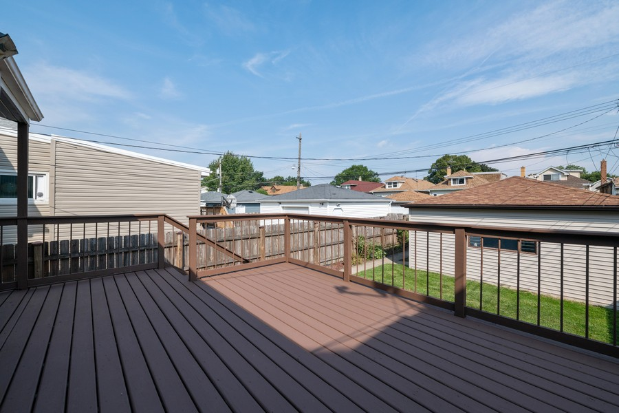 Real Estate Photography - 6320 W Warwick, Chicago, IL, 60634 - Deck