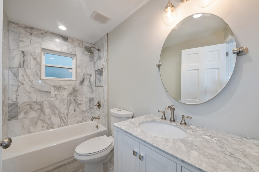 Real Estate Photography - 6320 W Warwick, Chicago, IL, 60634 - 2nd Bathroom