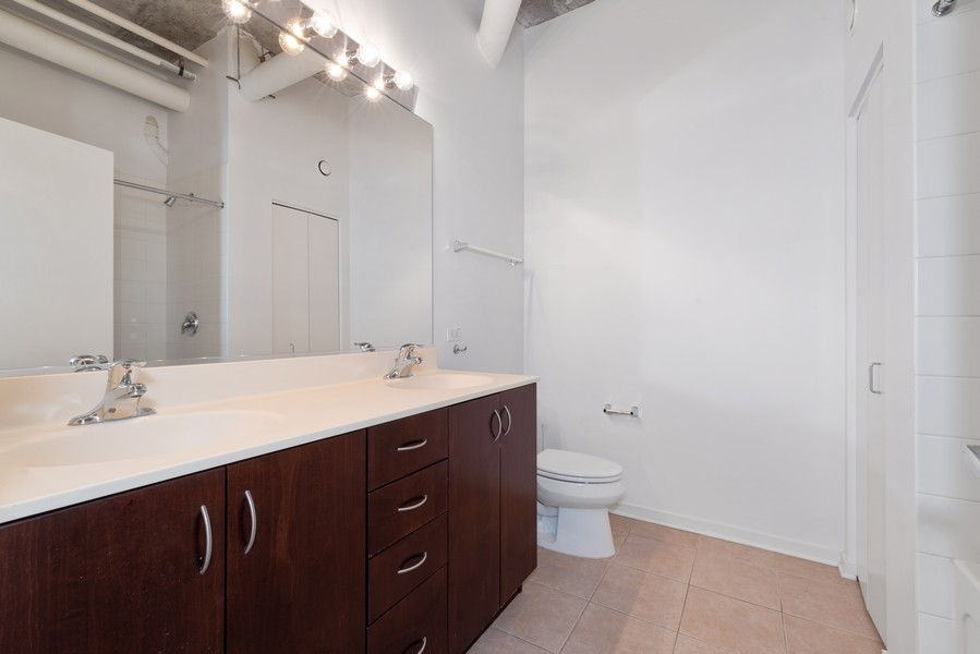 Real Estate Photography - 807 Davis Street, 504, Evanston, IL, 60201 - Master Bathroom