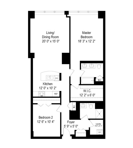 Real Estate Photography - 807 Davis Street, 504, Evanston, IL, 60201 - Floor Plan