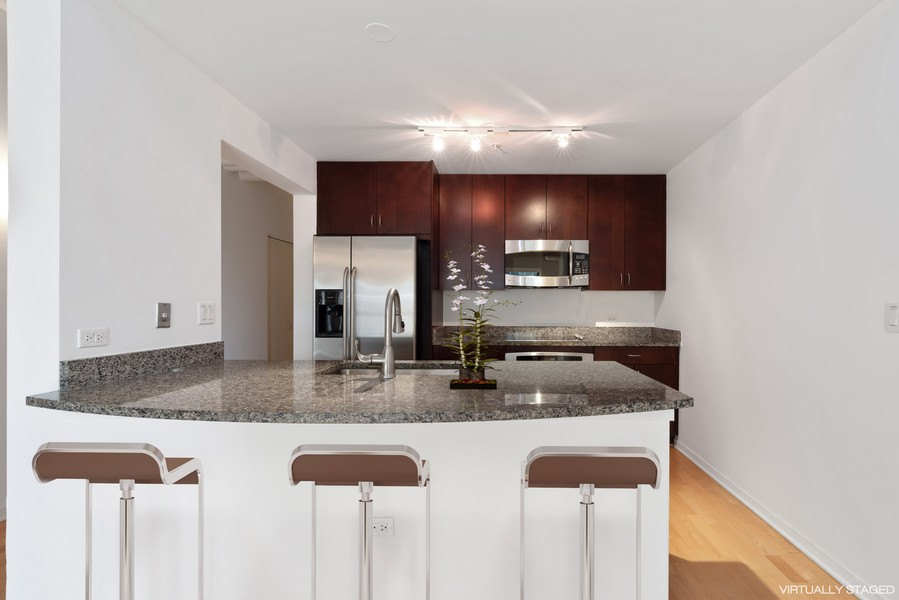 Real Estate Photography - 807 Davis Street, 504, Evanston, IL, 60201 - Kitchen