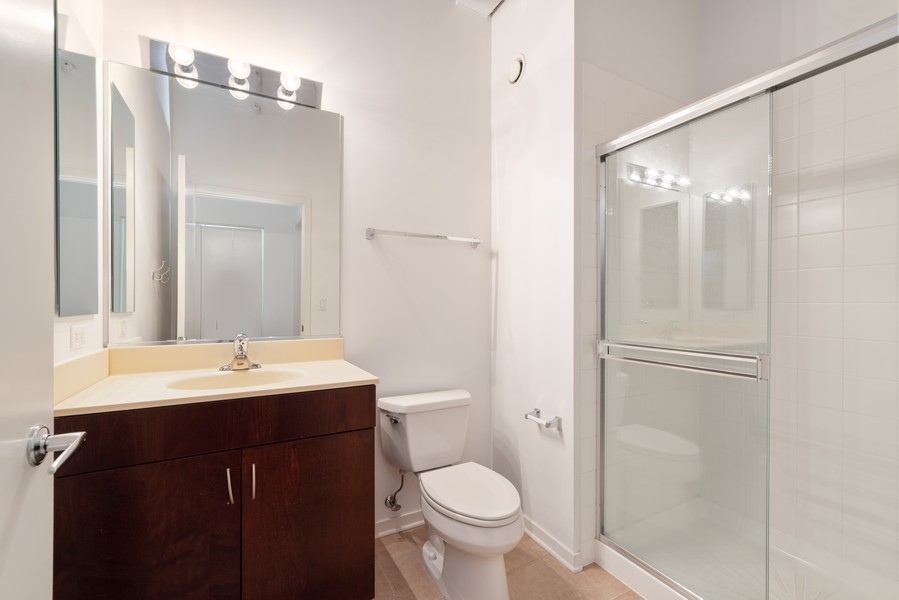 Real Estate Photography - 807 Davis Street, 504, Evanston, IL, 60201 - Guest Bathroom