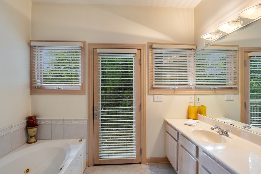 Real Estate Photography - 115 Power Ln, Michigan City, IN, 46360 - Master Bathroom