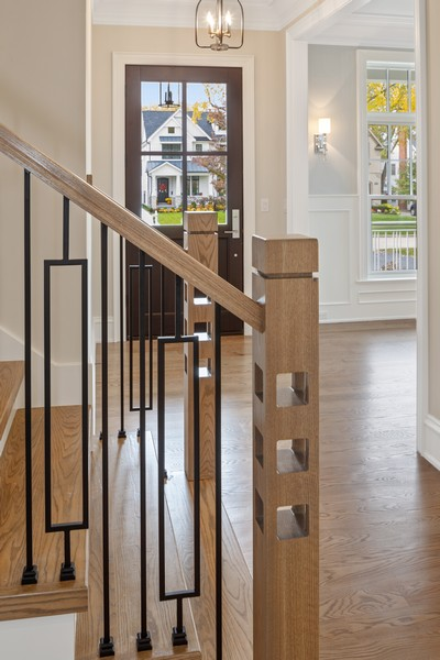 Real Estate Photography - 5341 Lawn Ave, Western Springs, IL, 60558 - Staircase