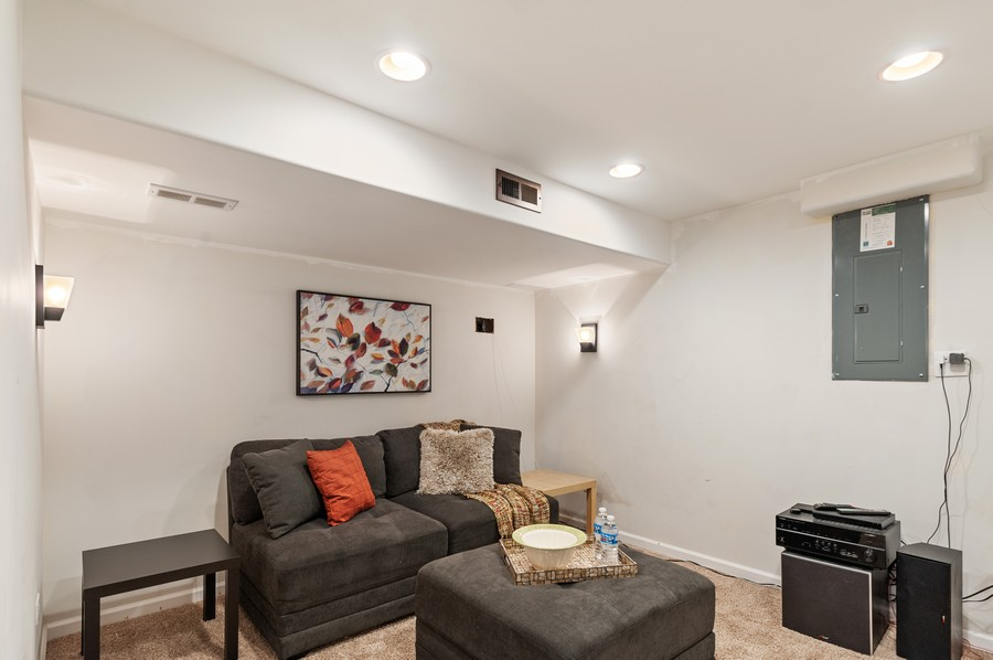 Real Estate Photography - 290 Bedford, Volo, IL, 60073 - Basement Media Room
