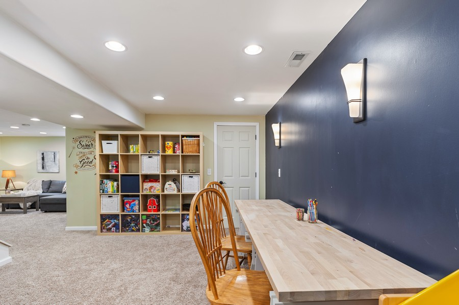 Real Estate Photography - 290 Bedford, Volo, IL, 60073 - Basement Craft Area