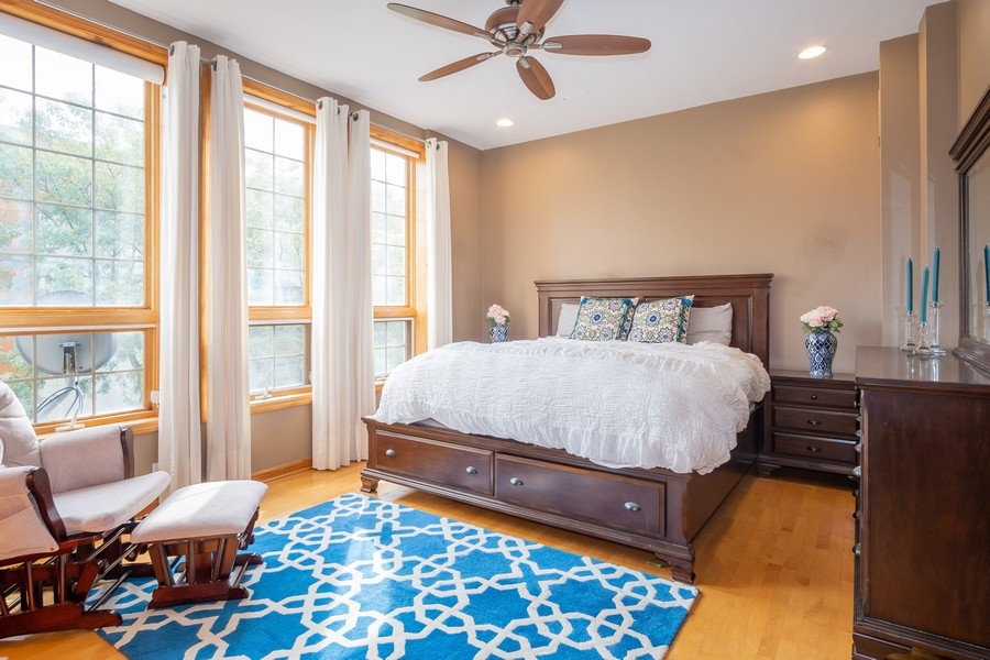 Real Estate Photography - 847 N Hermitage, Unit B, Chicago, IL, 60622 - Master Bedroom