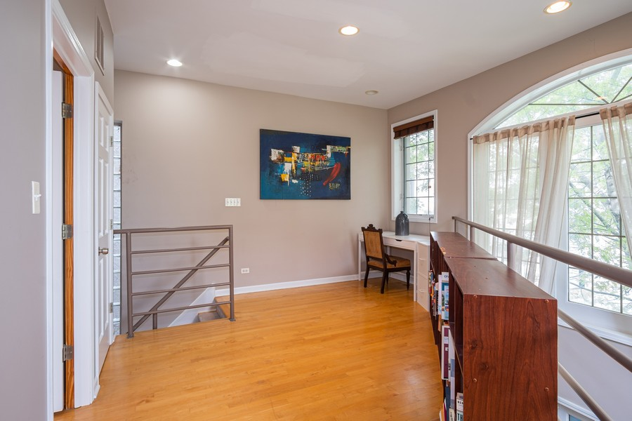 Real Estate Photography - 847 N Hermitage, Unit B, Chicago, IL, 60622 - Den