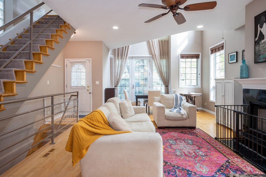 Real Estate Photography - 847 N Hermitage, Unit B, Chicago, IL, 60622 - Living Room / Dining Room